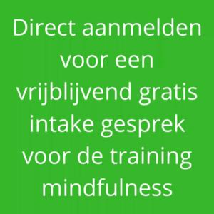 Aanmelden mindfulness training